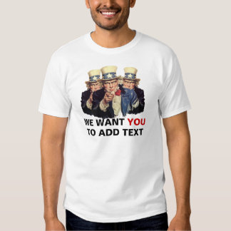 Uncle Sam I want You USA Vintage Shirt Template