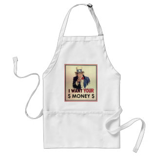 Uncle Sam - I Want Your Money Adult Apron