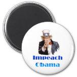 Uncle Sam Impeach Obama 2 Inch Round Magnet