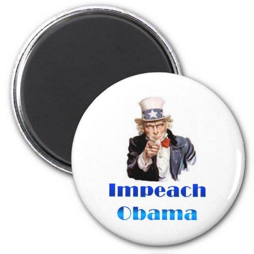 Uncle Sam Impeach Obama Refrigerator Magnet