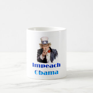 Uncle Sam Impeach Obama Classic White Coffee Mug
