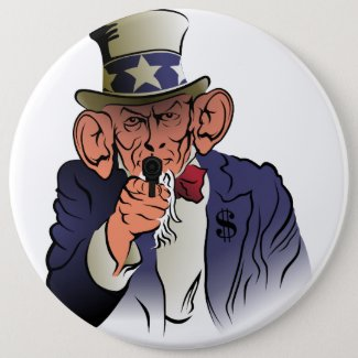 Uncle Sam in color Button