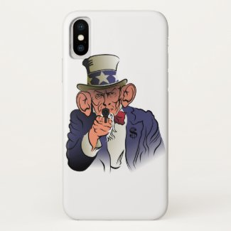 Uncle Sam in color iPhone X Case