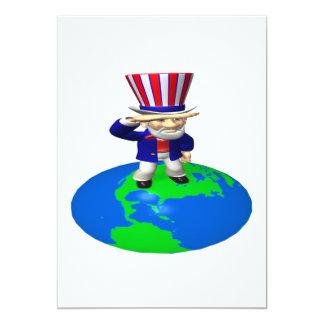 "Uncle Sam 5"" X 7"" Invitation Card"
