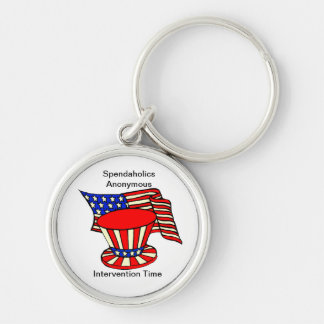 Uncle Sam is a shopaholic Intervention Time Keychain