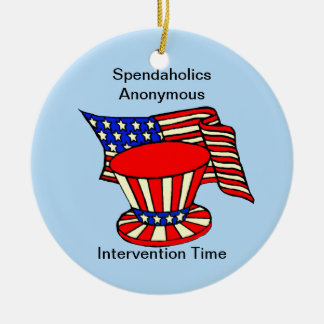 Uncle Sam is a shopaholic Intervention Time Ornament