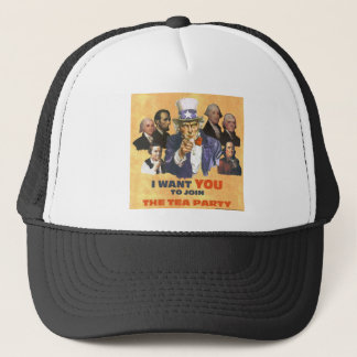 UNCLE SAM JOIN TEA PARTY TRUCKER HAT