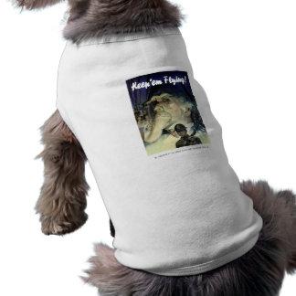 Uncle Sam -- Keep 'Em Flying Doggie T Shirt