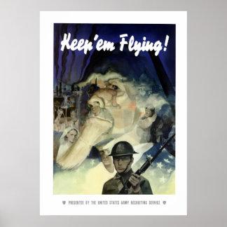 Uncle Sam -- Keep 'Em Flying Poster