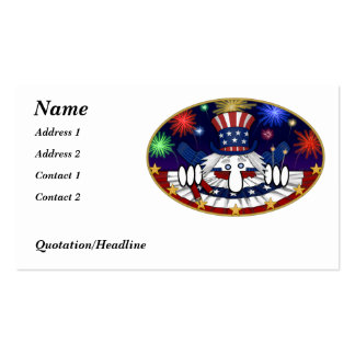 Uncle Sam Kilroy Business Card