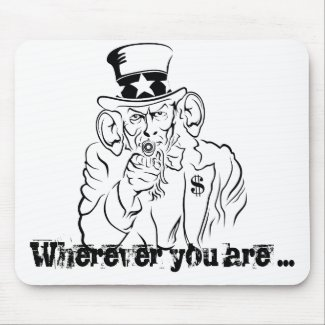 Uncle Sam listening Mouse Pad