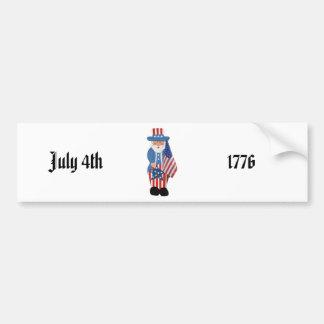 Uncle Sam Logo Bumper Sticker
