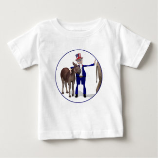 Uncle Sam Loves Donkeys Baby T-Shirt