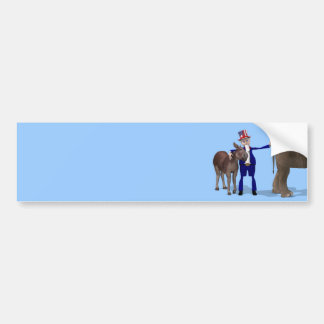 Uncle Sam Loves Donkeys Bumper Sticker