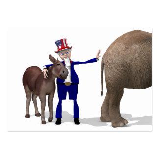 Uncle Sam Loves Donkeys Business Cards