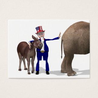 Uncle Sam Loves Donkeys Business Card