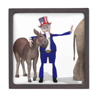 Uncle Sam Loves Donkeys Gift Box