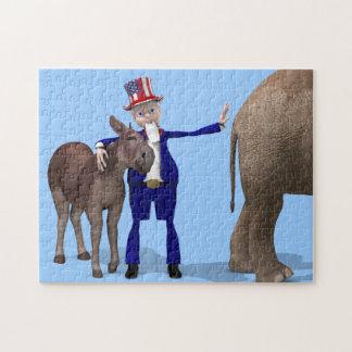 Uncle Sam Loves Donkeys Jigsaw Puzzle