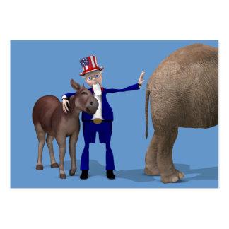Uncle Sam Loves Donkeys Large Business Card