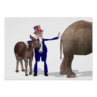 Uncle Sam Loves Donkeys Poster