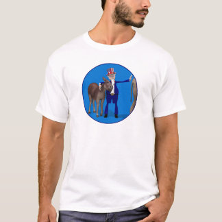 Uncle Sam Loves Donkeys T-Shirt