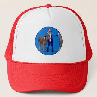 Uncle Sam Loves Donkeys Trucker Hat
