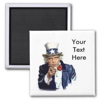 Uncle Sam 2 Inch Square Magnet
