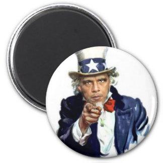Uncle Sam 2 Inch Round Magnet