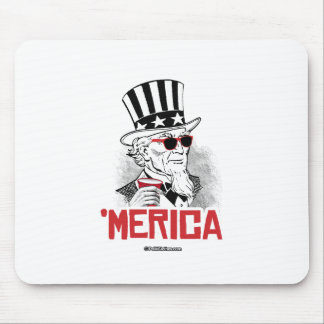 Uncle Sam 'Merican Party Mouse Pad