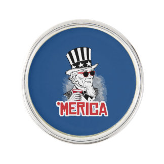 Uncle Sam 'Merican Party Pin