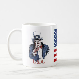 Uncle Sam Classic White Coffee Mug