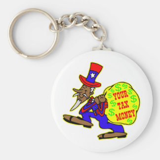 Uncle Sam Obama And Your Tax Money Key Chain