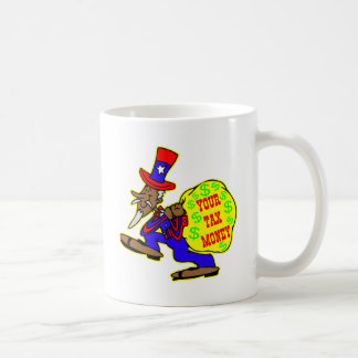 Uncle Sam Obama And Your Tax Money Classic White Coffee Mug