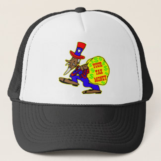 Uncle Sam Obama And Your Tax Money Trucker Hat