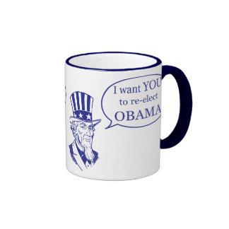 Uncle Sam - Obama Ringer Coffee Mug