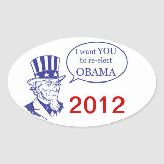 Uncle Sam - Obama Oval Sticker