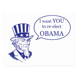 Uncle Sam - Obama Postcard