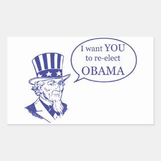 Uncle Sam - Obama Rectangular Stickers