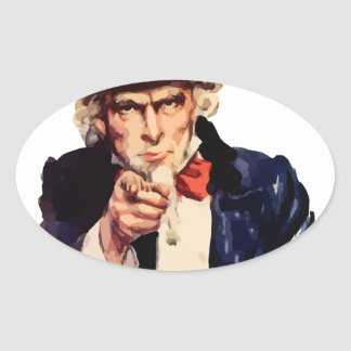 Uncle Sam Oval Sticker