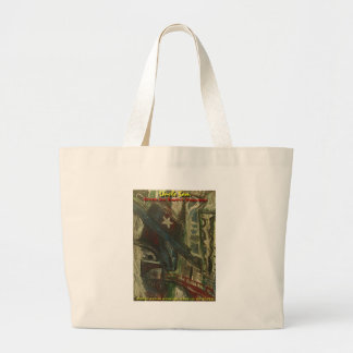 uncle sam over an empty freeway canvas bag