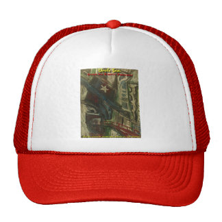 uncle sam over an empty freeway trucker hat