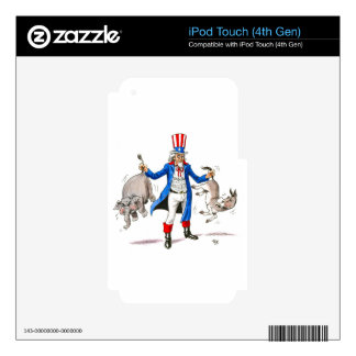 Uncle Sam Paddle Ad Merchandise Decals For iPod Touch 4G
