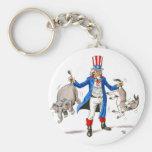 Uncle Sam Paddle Ad Merchandise Keychain