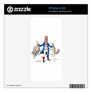 Uncle Sam Paddle Ad Merchandise Skins For iPhone 4S