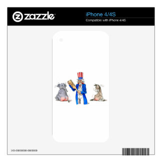Uncle Sam Paddle Skins For iPhone 4