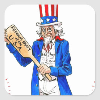 Uncle Sam Paddle Square Sticker