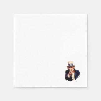 Uncle Sam Paper Napkin