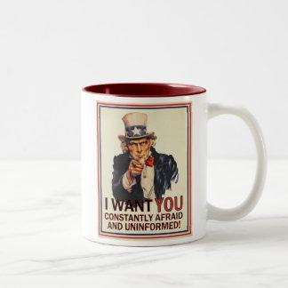 Uncle Sam Parody Mug