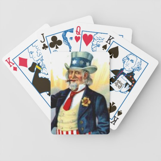 Uncle Sam Patriotic Election US History Presidents Bicycle Playing Cards