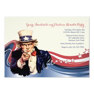 Uncle Sam Patriotic Invitation